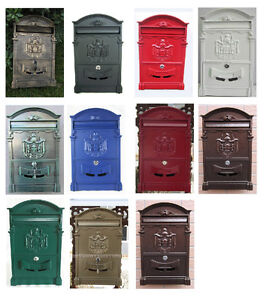 image is loading vintage retro cast aluminum wall mount mailbox mail