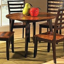 Item 2 Steve Silver Company Abaco Double Drop Leaf Round Casual Acacia  Dining Table  Steve Silver Company Abaco Double Drop Leaf Round Casual Acacia  Dining ...