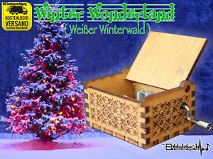 Weißes Wunderland Winter Wonderland Spieluhr Musicbox Neu Weihnachten Christmas