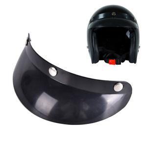 3-Snap-Visier-Gesichtsschutz-Objektiv-fuer-Helme-Open-Face-Helm-Zubehoer-Sm