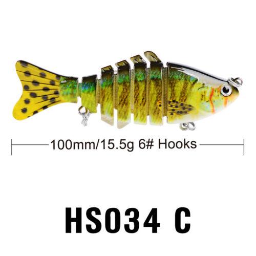 "1PC Fishing Lures  4/"" Proberos Swimbait Life-like Sink Hook Fishing Tackle Bass"