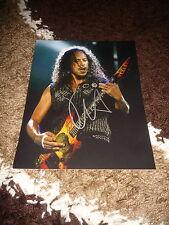 METALLICA Kirk Hammett signed Autogramm auf 20x25 cm Foto InPerson LOOK