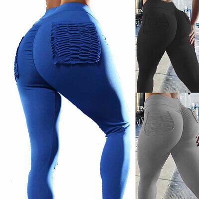 Women Yoga Gym Compression Leggings Push Up Fitness Sport Butt Lift Pants