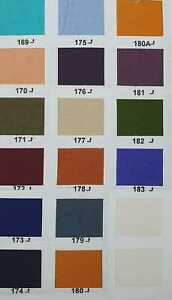 "Plain dyed lining fabric polyester 44/"" shantoon Premium Fabric Sample//Metre"