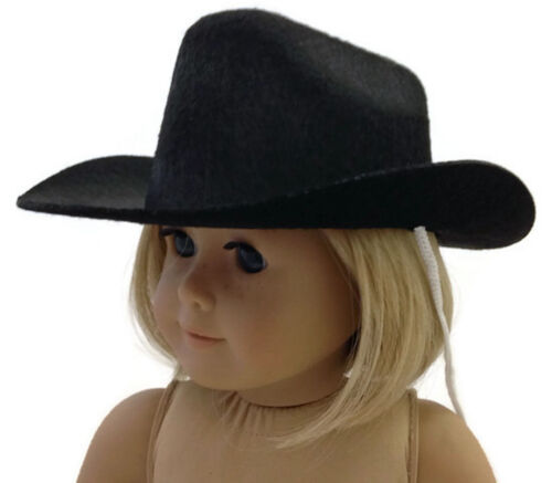 Black Western Cowboy Hat Accessories fits 18 inch American Girl Doll Clothes