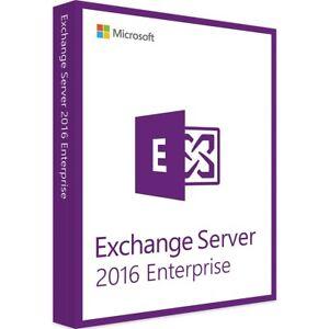 Exchange Server 2016 Édition Entreprise 64 Bits Complet Avec 250 Utilisateur Cals, Nouveau-afficher Le Titre D'origine