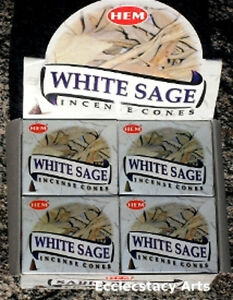 Hem-White-Sage-Incense-Cones-12-x-10-Cone-120-Cones-Total-Bulk-Lot-NEW