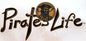 X-Large-PIRATE-039-S-LIFE-BLACKBEARD-BLACK-GOLD-Bumper-Sticker-11-034-x-5-034-Di-cut-Decal
