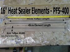 "2 x Sets PFS-400 - 16"" Impulse Heat Sealer Replacement Element Kits *US Ship*"