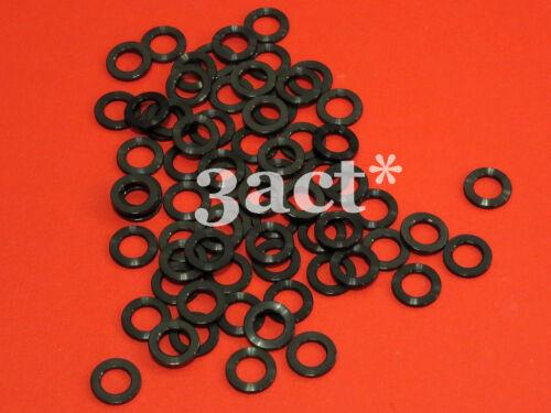 Fit Brake, Stem, Bottle Cage, Shifter 10pcs M6 Titanium Ti Bolt Washer Black