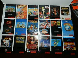 Super Nintendo SNES Game Manual Booklet Instructions U Pick & Choose Video Games