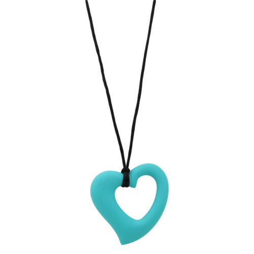Silicone Baby Heart Teether Toy Teething Pendant Necklace Pendant BPA Free N7