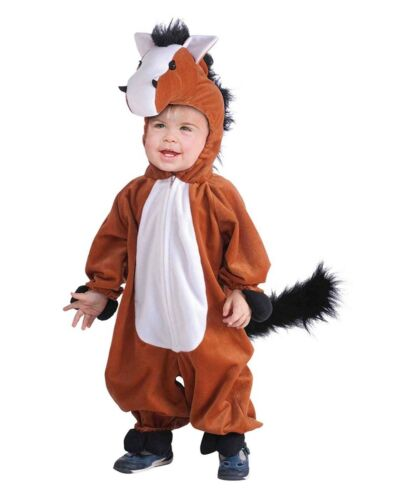 Mascot Plush Horse Unisex Child Farm Animal Halloween Costume