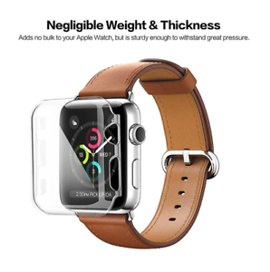 Pour-Montre-Apple-Series-1-38mm-Complet-Ecran-Transparent-TPU-Protection-Housse