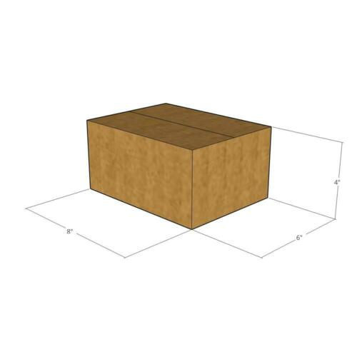 50 8x6x4 Cardboard Packing Mailing Moving Shipping Corrugated Boxes Cartons