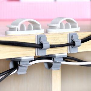 10 15pcs kabelklemme kabelhalter kabelclip kabel clip selbstklebend kabelschelle ebay. Black Bedroom Furniture Sets. Home Design Ideas