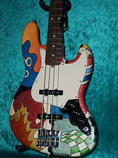 Fender USA American Custom Hand Painted Jazz Bass Guitar Vintage design j p