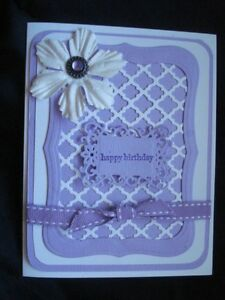 Image Is Loading Handmade Purple Birthday Card Made With Stampin Up