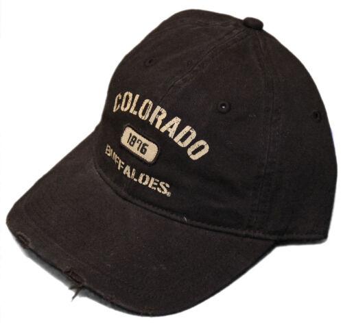 Colorado Buffaloes Adjustable Buckle Back Cap NEW! Pre-Distressed Hat