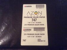 AZON 747 PREMIUM COLOR PAPER 11X17 UNOPENED PACKAGE 100 SHEETS