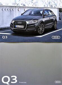 10-345-Audi-Q3-Prospekt-9-2016-Preisliste-price-list-02-2017-Brochure-catalog