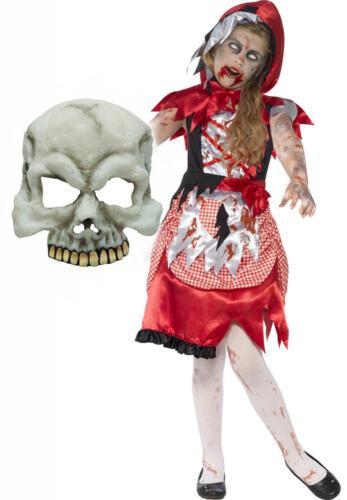 Zombie Red Riding Hood Smiffys Girls Kids Halloween Fancy Dress Costume MASK