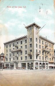 CALIFORNIA-CA-BANK-OF-SAN-JOSE-M-RIEDER-PUBLISHED-POSTCARD-1910