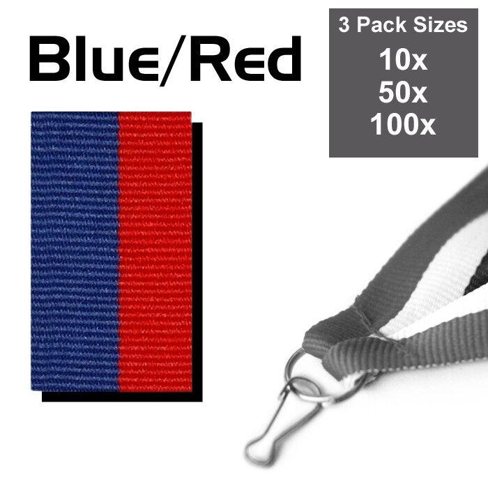 Confezione da 10x blu blu blu & rosso MEDAGLIA nastri con clip, in tessuto 22 mm di larghezza, 3 confezioni | Italia  c1303b