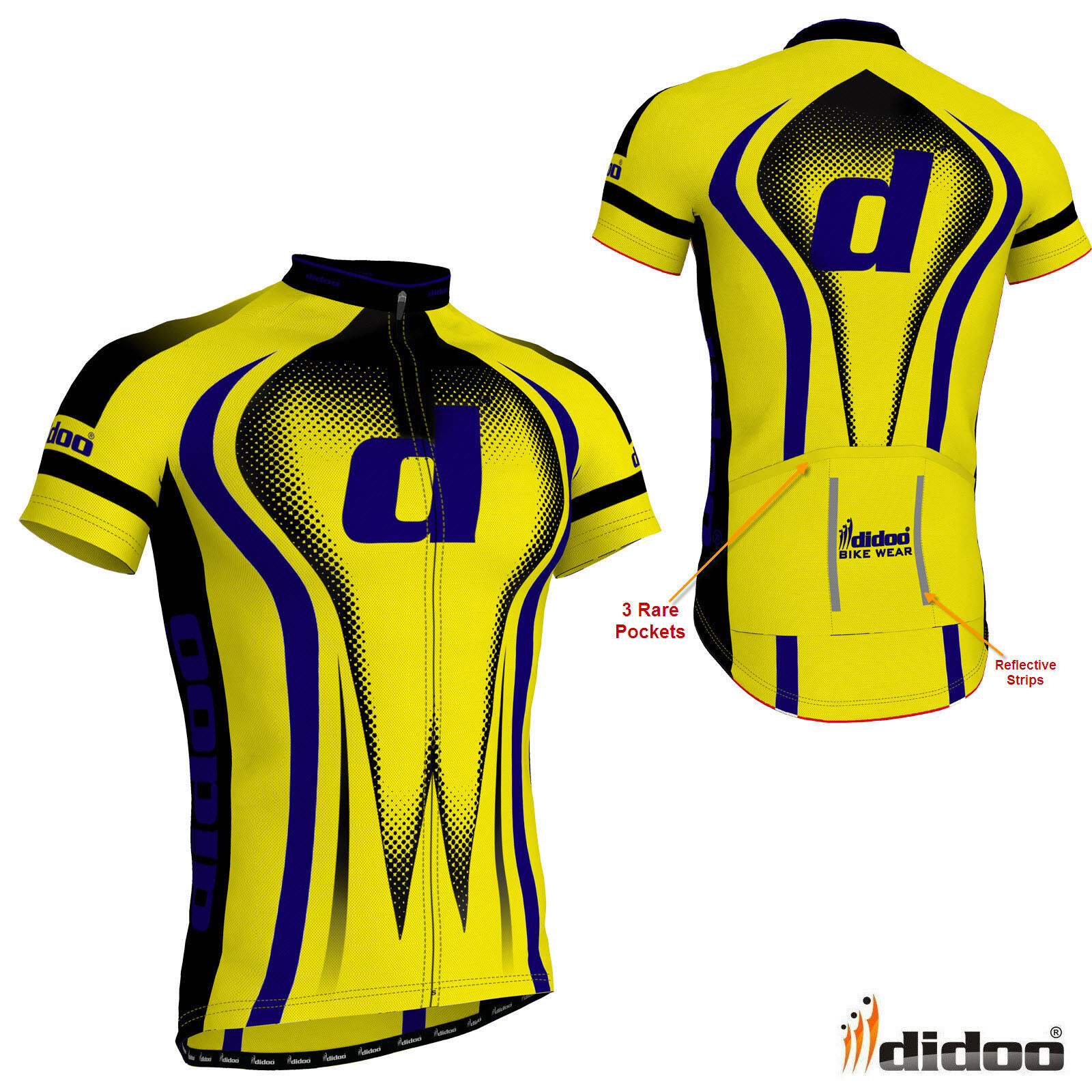 72d0bf363 Details about Didoo New Men s Cycling Half Sleeve Shirt Jersey Top Bicycle  Team Uniform Jacket