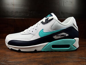 buy popular 7523a cee24 Image is loading Nike-Air-Max-90-Essential-White-Aurora-Green-