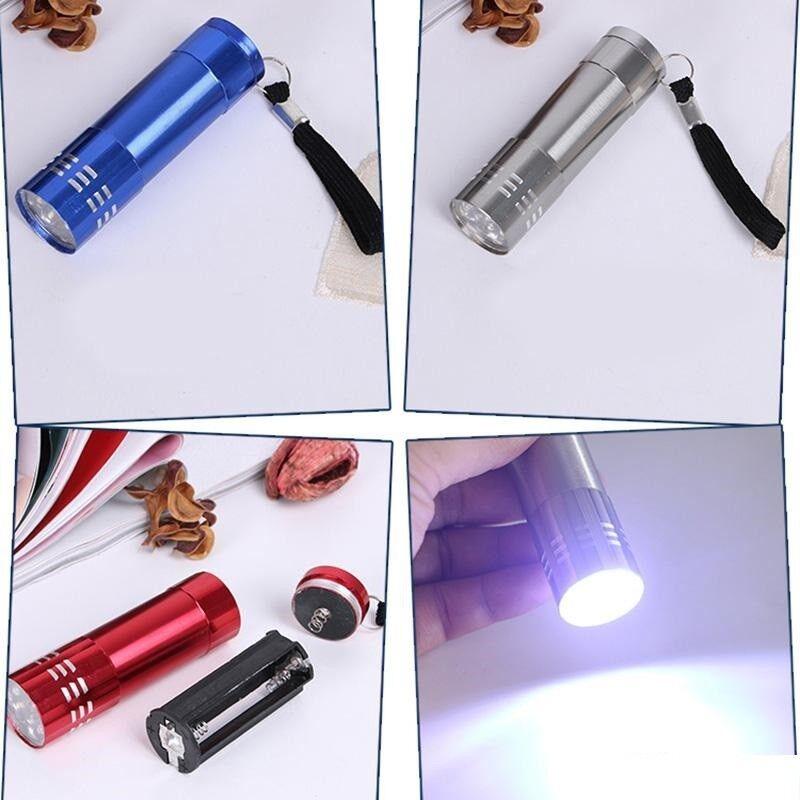 NEU  9 LED tragbar Taschenlampe Aluminium Lampe Light Licht Handlampe Flashlight