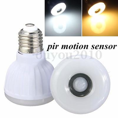 E27 5W PIR Motion Sensor Detector LED SMD Infrared Energy Saving Light Bulb Lamp