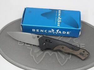 Benchmade-615-Mini-Rukus-Neil-Blackwood-G10-Micarta-S30V-Axis-Folding-Knife-NOS