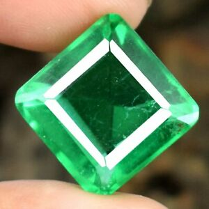 Octagon Cut Muzo Colombian Emerald 13.85 Ct Natural Gemstone Certified A61976