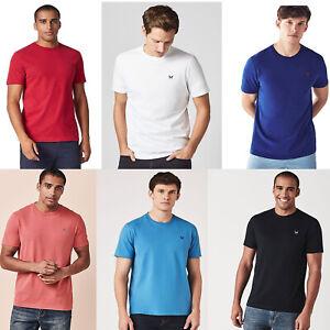 Crew-Clothing-Mens-Cotton-Round-Neck-Short-Sleeve-Basic-T-shirt-Top-Tee-S-M-L-XL