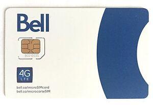 Bell Micro LTE Sim Card