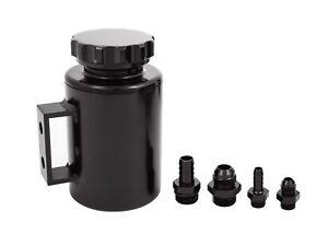 Billet-Aluminium-Baffled-Power-Steering-Reservoir-Twin-Port-3-4-034-3-8-034-Black