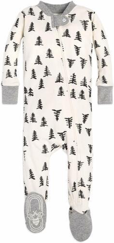Burt/'S Bees Baby Baby Boy/'S Uni Pajamas Zip-Front Non-Slip Footed Sleeper Pjs,