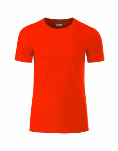Herren T-Shirt rundhals Basic Tee Bio Baumwolle
