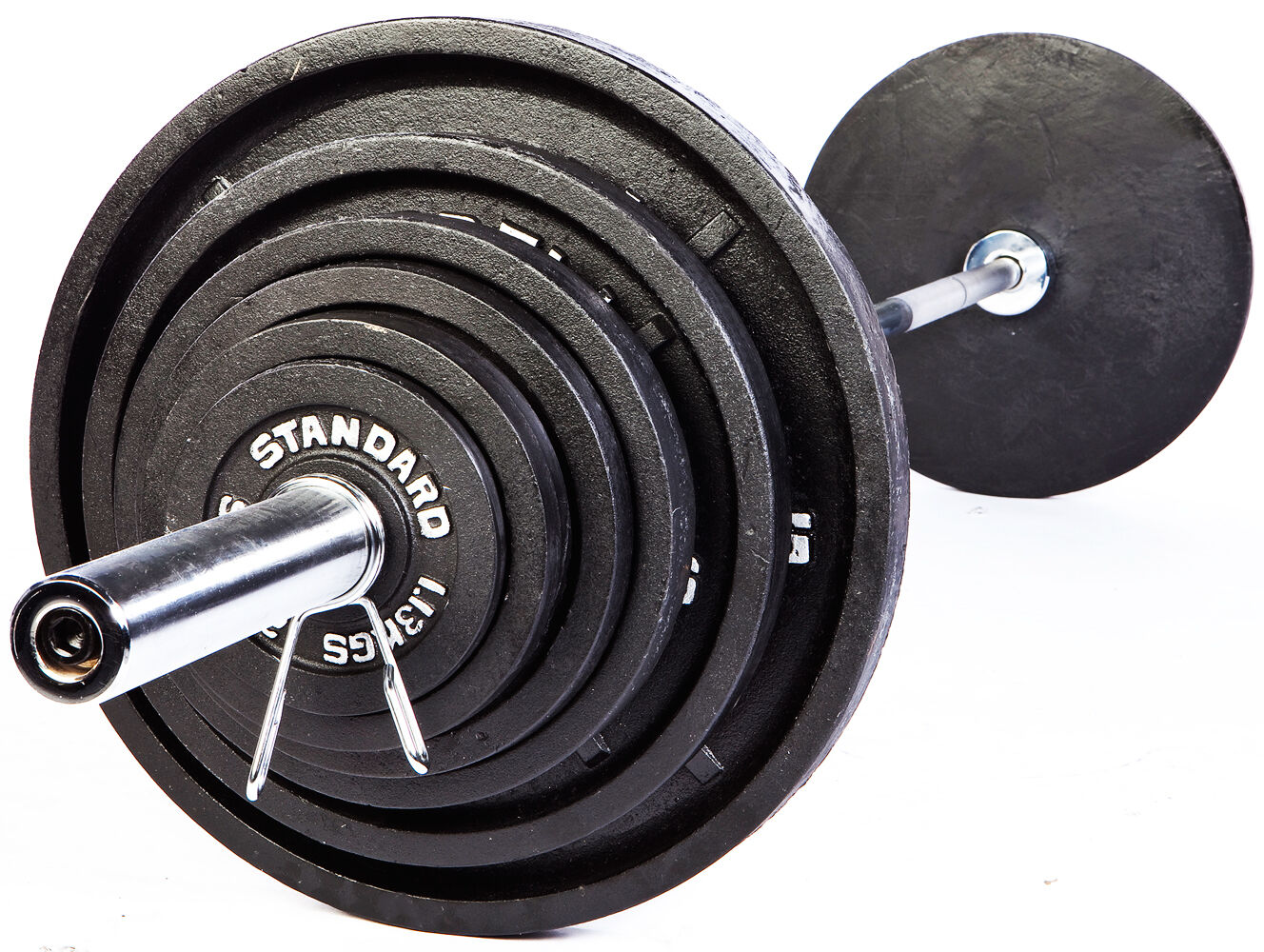 Troy USA Sports BOSS-300 Olympic Weight Set with Olympic GOB-86 Bar - New