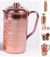 100% Pure 1 Copper Water Jug Pitcher New Copper Indian Ayurveda Product01