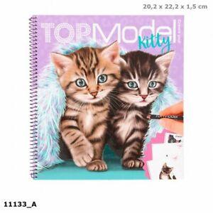 new depesche create your topmodel kitty colouring book - 11133 4010070465490 | ebay