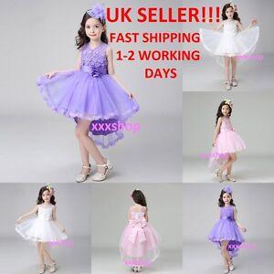 Girls-Flower-Bridesmaid-Party-Princess-Prom-Wedding-Christening-COMMUNION-Dress