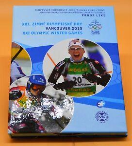 SLOVAQUIE 2010 : coffret BE 1 cent à 2 euro + médaille. Officiel.