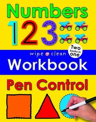 1 of 1 - Numbers and Pen Control (Wipe Clean Workbooks), Priddy, Roger, 1849156751, Very
