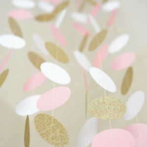 10FT-Banner-Glitter-Circle-Polka-Dots-Paper-Garland-Banner-Pink-White-and-Gold