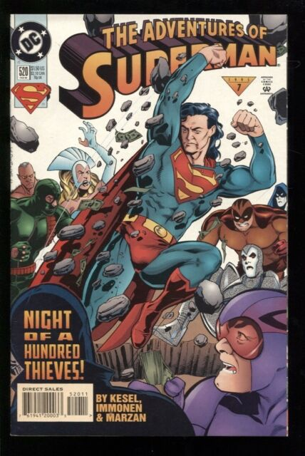 9.2 The Adventures of Superman #529 November 1995 DC NM 1987 Series