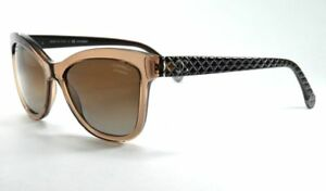 eac055f540 Image is loading CHANEL-5330-1529-S9-BROWN-QUILT-POLARIZED-Sunglasses