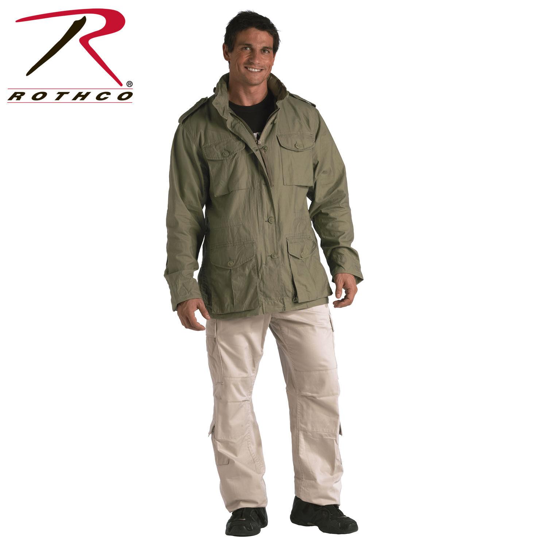 Rothco Vintage Leicht M-65 Jacke Taktisch Mantel Baumwolle 4 Farben M65 8751
