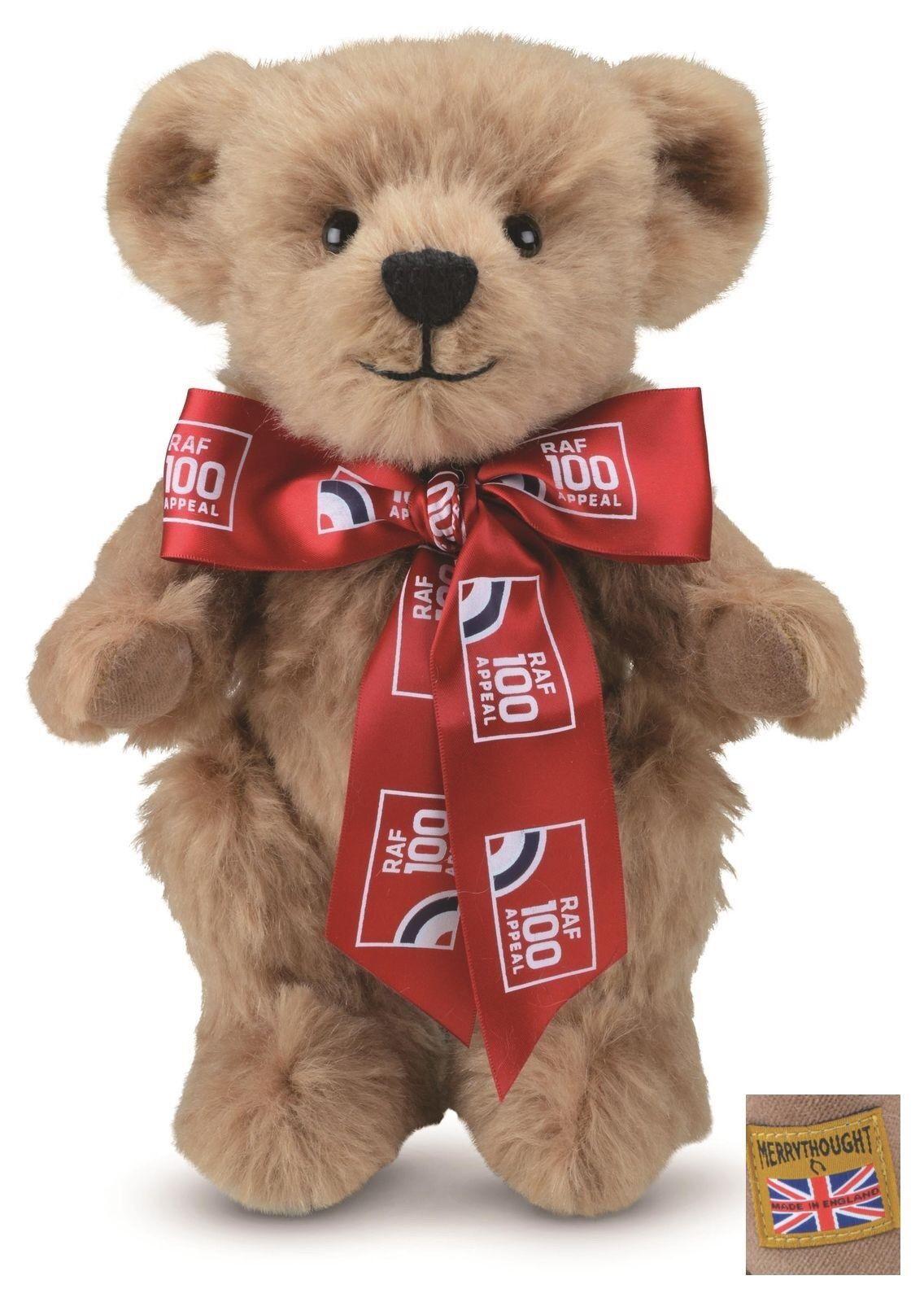MERRYTHOUGHT HANDMADE RAF 128 SQUADRON - ROYAL AIR FORCE CENTENARY TEDDY BEAR